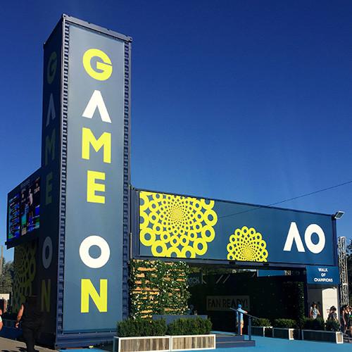 Australian Open Signage Design
