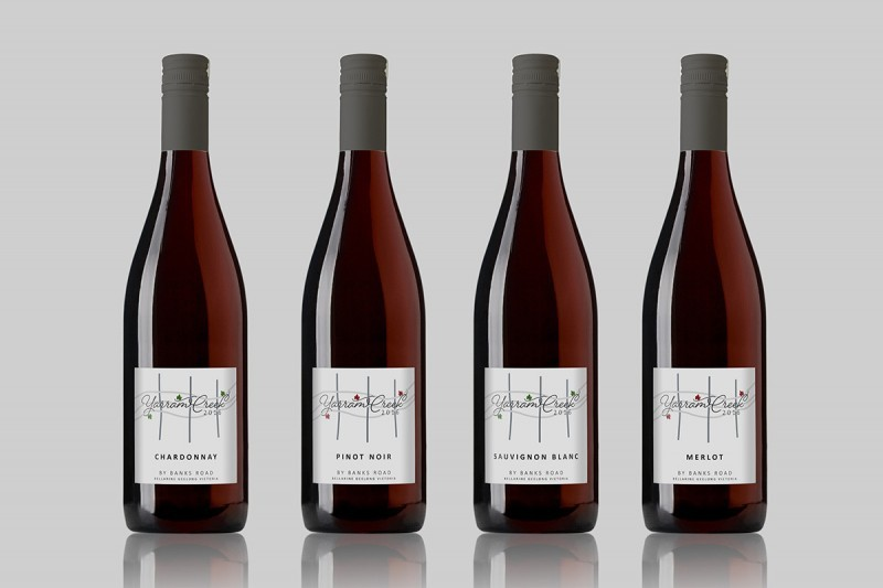 Banks Road wine label design