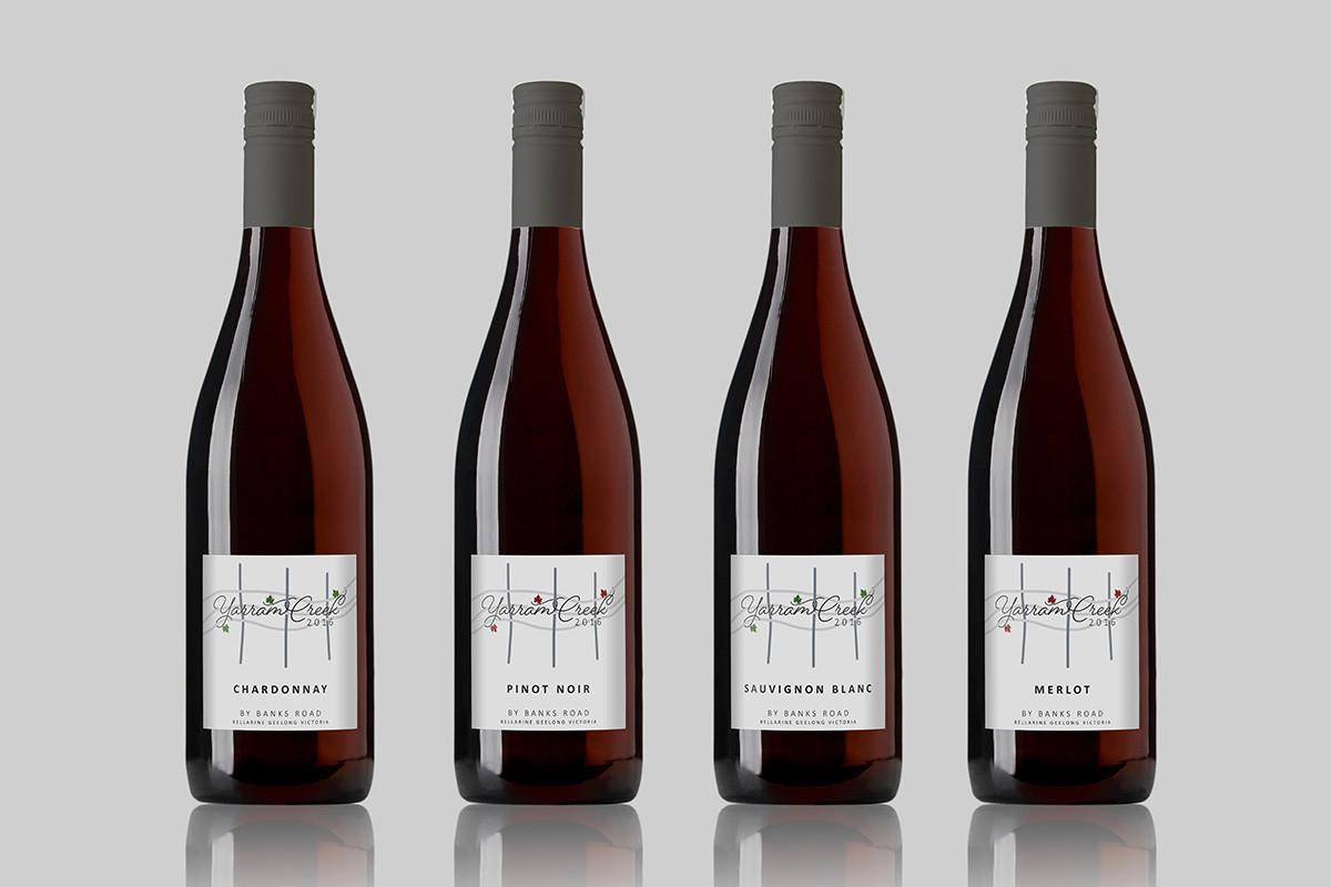 Banks Road wine label design