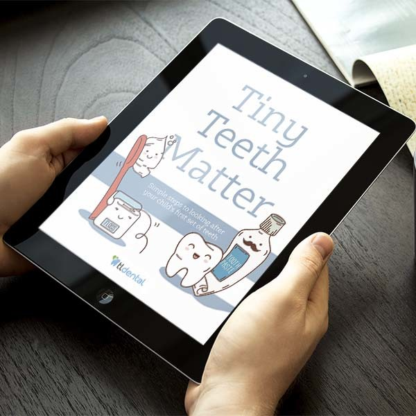 TL Dental Logo graphic design